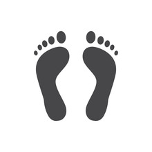 Human Barefoot Track Monochrom...