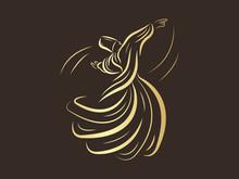Mevlana Whirling Dervishes Vector Illustration