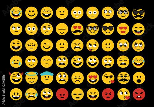 Emoji set vector illustration Wallpaper Mural