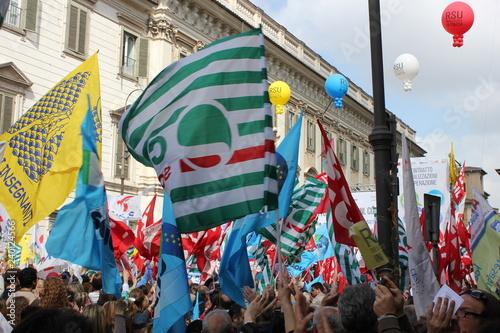 Canvas Prints Owl Sciopero manifestazione sindacati cgl isl uil snals gilda