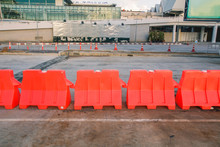 Red Water Barrier, Phuket International Airport, Thailand Building Phuket International Airport Morning September 5, 2017