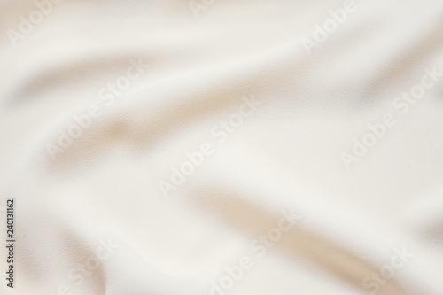 Fotografie, Obraz Matte cream delicate soft pleated fabric background