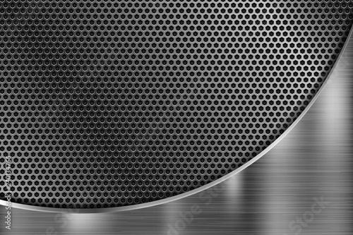 Fototapeta Perforated metal texture. Scratched metallic surface
