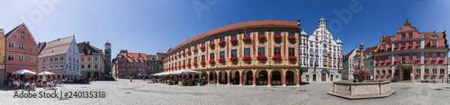 Foto op Plexiglas Historisch geb. Memmingen Marktplatz Panorama