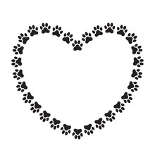Heart Shaped Frame Made Of Paw...