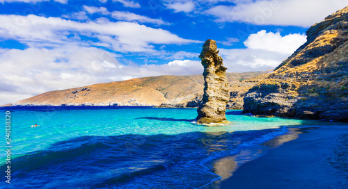 Most beautiful beaches of Greece series - Tis grias to pidima. Andros island, Cyclades