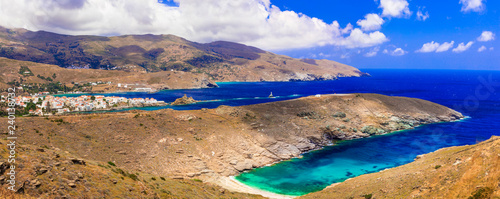 Greece - Andros island, Cyclades, view of Chora village