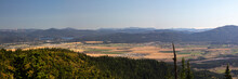 A Panorama Of The Rathdrum Prairie In North Idaho