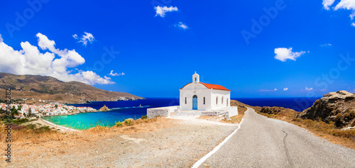 Authentic traditional Greece - tranquil Andros island, Cyclades