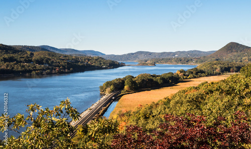 Fotografie, Tablou Scenic shot of Hudson River and Valley in Autumn