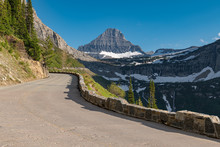 Beautiful View Of Glacier National Park Belong Going To The Sun Road
