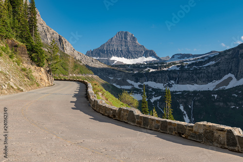 Fotografia, Obraz  Beautiful view of Glacier National Park belong Going to the sun road