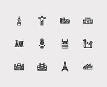Travel Icons Set: Indonesia, I...