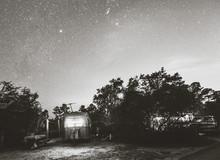 Camper With Night Sky At Big L...