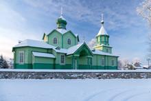 Podlaskie Region, Poland - December, 2009: Orthodox Church In Narew Village
