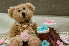 Toy Bear With Small Brown Shoe...