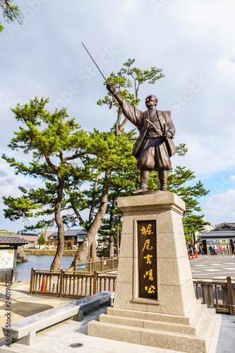 Foto op Canvas Historisch mon. 堀尾吉晴公の銅像