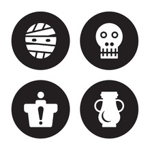 4 Vector Icon Set : Mummy, Inf...