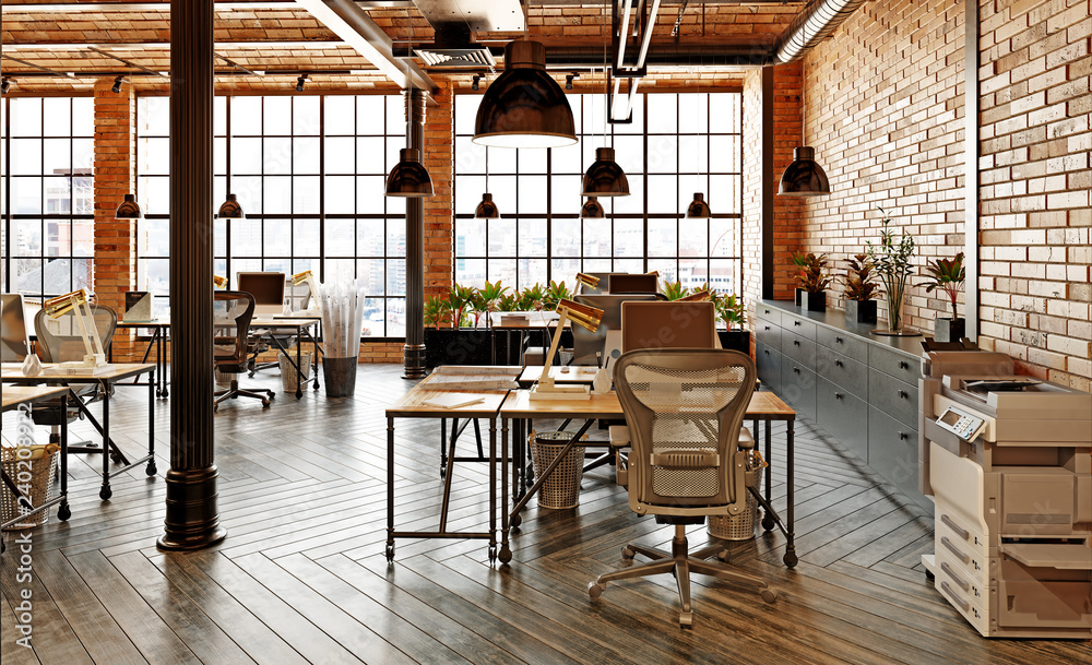 Fototapety, obrazy: modern office interior
