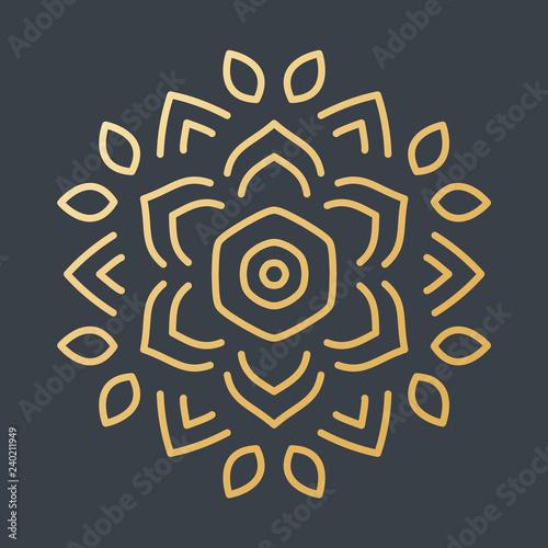 Beautiful Golden Decoration Ornament Fototapete