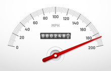 Car Speedometer Dashboard. Spe...