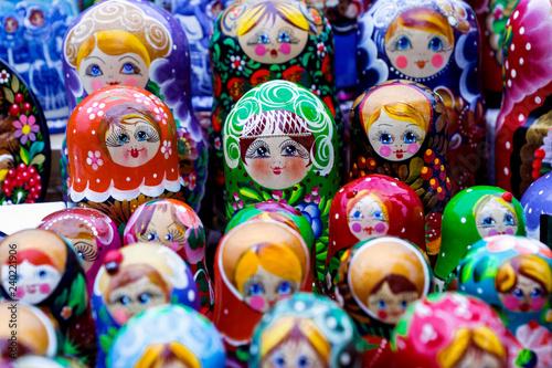 Foto op Canvas Moskou wooden nesting dolls