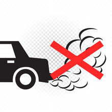 No Idling Engine Off Sign Symbol