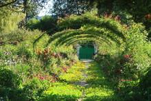 Jardin De Claude Monet à Giverny, Grande Allée Du Clos Normand (France)