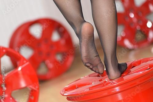 Fotografie, Obraz  Stopy, nogi