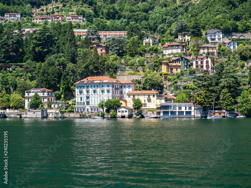 Italinen Lombardai, Comer See,  Lago di Como, Provinz Como,   Blick auf Laglio Canvas Print