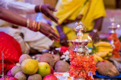 Oil lamp, Diwali , HIndu festival , royal Rajasthan, India