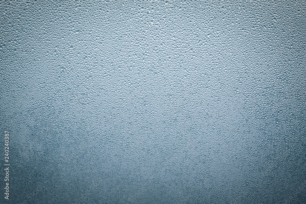 Fototapety, obrazy: Misted wet window glass as background texture
