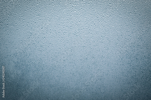 Fotografia  Misted wet window glass as background texture