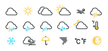 Weather Icons Set Isolated On ...