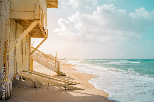 View of Tel Baruch Beach in Tel Aviv, Israel Canvas Print
