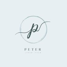 Elegant Initial Letter Type P ...