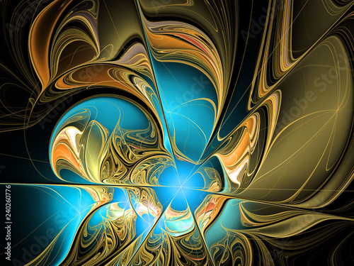 Fotografie, Obraz  abstract multicolored fractal pattern