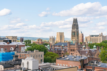 New Haven, Connecticut City Skyline
