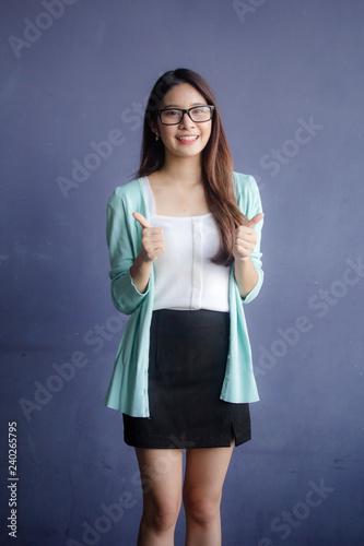 Fotografia  thai adult working women glasses Great
