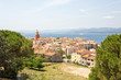 View of the beautiful village of Saint Tropez in a summer setting located in the South of France.