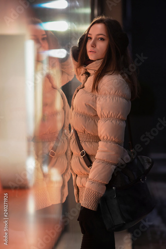 Fotografie, Obraz  Pensive young woman