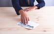 businessman envelope money