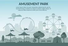 Amusement Park Vector Illustra...