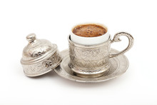 Turkish Coffee In Traditional ...