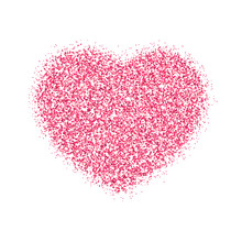Pink Heart Of Pink Glitters Fo...