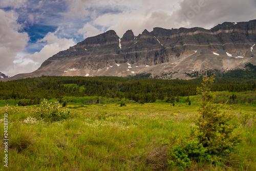 Fotografie, Obraz  Meadow mountain valley landscape