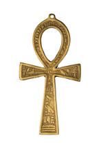 Egyptian Symbol Of Life Ankh Isolated On White Background. Close Up Image.