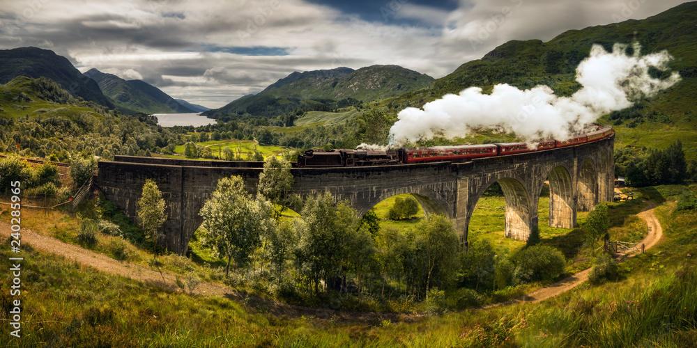Fototapeta Steam train Jacobite - obraz na płótnie