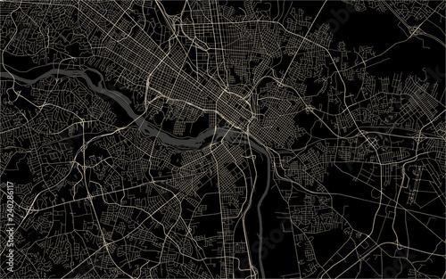 map of the city of Richmond, Virginia, USA Canvas Print