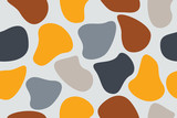 Seamless, abstract background pattern made with organic geometric shapes. Colorful, modern vector art. - 240288562